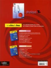 Physique ; terminale S ; enseignement spécifique ; manuel de l'élève - 4ème de couverture - Format classique