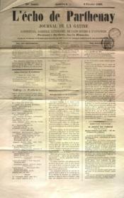 Echo De Parthenay (L') N°6 du 09/02/1868 - Couverture - Format classique