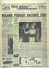 Paris Presse L'Intransigeant N°4777 du 21/04/1960 - Couverture - Format classique