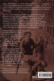1937-1945, en Bourgogne ; itinéraires d'un potache sous l'occupation - 4ème de couverture - Format classique