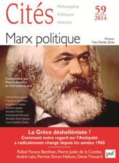 Revue Cites N.59 ; Marx Politique - Couverture - Format classique