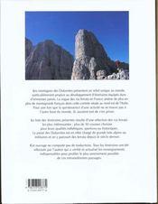 Dolomites - 4ème de couverture - Format classique