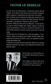 Victor le rebelle ; la résistance d'un juif en France - 4ème de couverture - Format classique