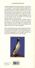 Le Grand Pingouin - 4ème de couverture - Format classique
