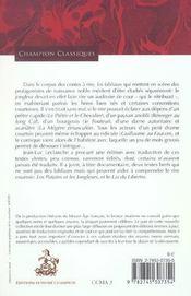Chevalerie et grivoiserie - 4ème de couverture - Format classique