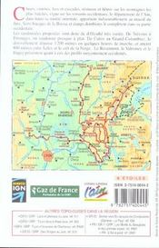 Tours et traversees dans l'ain 2005 - 01-39-69-gr9/gr59-901 - 4ème de couverture - Format classique