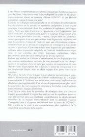 Synthese Active (De La) - 4ème de couverture - Format classique