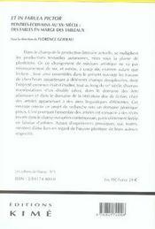 Et in fabula pictor ; peintres-écrivains au xx siècle : des fables en marge des tableaux - 4ème de couverture - Format classique