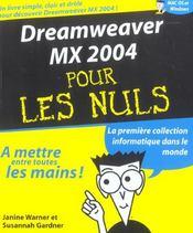 Dreamweaver Mx 2004 Pour Les Nuls - Intérieur - Format classique