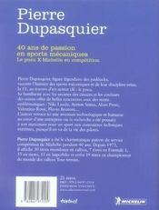 40 ans de passion en sports mécaniques - 4ème de couverture - Format classique