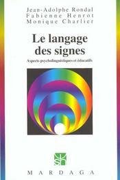 Langage Des Signes (Le) - Intérieur - Format classique