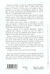 Napoleon et venise - 4ème de couverture - Format classique