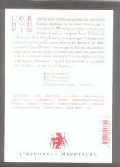 Le vin secret - 4ème de couverture - Format classique