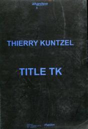 Title TK - Couverture - Format classique
