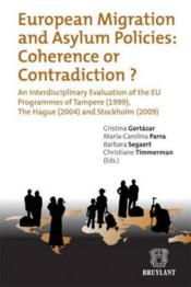 European migration and asylum policies : coherence or contradiction ? - Couverture - Format classique