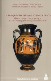 Banquet De Pauline Schmitt Pantel - Couverture - Format classique