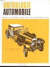 L'Anthologie De L'Automobile N°13 - Couverture - Format classique