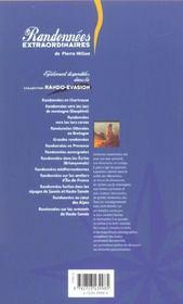 Randonnees Extraordinaires Dans Les Alpes Et En Provence - 4ème de couverture - Format classique
