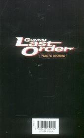 Gunnm last order t.6 - 4ème de couverture - Format classique