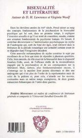 Bisexualite Et Litterature - 4ème de couverture - Format classique