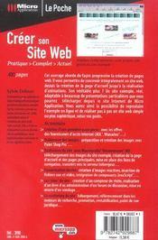 Creer son site web-le poche - 4ème de couverture - Format classique