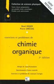 Exercices et problemes de chimie organique - Intérieur - Format classique