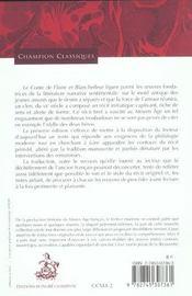Le conte de Floire et Blanchefleur - 4ème de couverture - Format classique