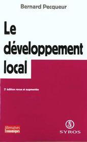 Le développement local pour une économie des territoires - Intérieur - Format classique