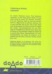 Léonore - 4ème de couverture - Format classique
