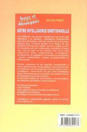 Votre Intelligence Emotionnelle - 4ème de couverture - Format classique