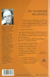 Les ecumeurs du silence - 4ème de couverture - Format classique