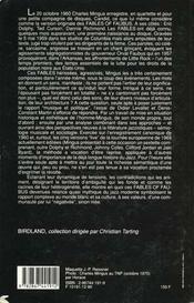 L'Amérique de Mingus - 4ème de couverture - Format classique