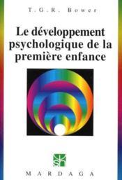 Le développement psychologique de la première enfance - Couverture - Format classique