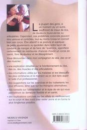 Mon Compagnon Du Dos, Des Os Et Des Muscles - 4ème de couverture - Format classique