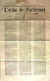 Echo De Parthenay (L') N°32 du 09/08/1868 - Couverture - Format classique