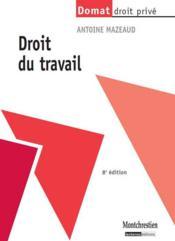 Droit du travail (8e édition) - Couverture - Format classique