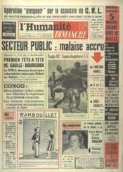 Humanite Dimanche (L') N°652 du 26/02/1961 - Couverture - Format classique