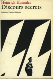 Discours Secrets - Couverture - Format classique