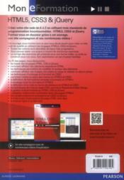 HTML5, CSS3 & jQuery - 4ème de couverture - Format classique