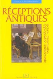 Réceptions antiques ; lecture, transmission, appropriation intellectuelle - Intérieur - Format classique