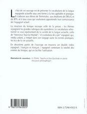 Lexique D'Espagnol En Contexte - 4ème de couverture - Format classique