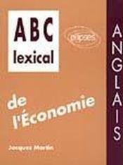 Abc Lexical De L'Economie Anglais - Couverture - Format classique