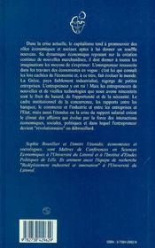 Entrepreneurs Et Innovation En Grece ; L'Entrepreneur Revolutionnaire - 4ème de couverture - Format classique