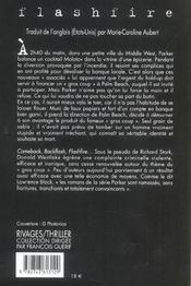 Flashfire - 4ème de couverture - Format classique