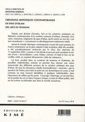 Créations artistiques contemporaines en pays d'islam ; des arts en tension - 4ème de couverture - Format classique