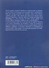 Grands hommes du Panthéon - 4ème de couverture - Format classique