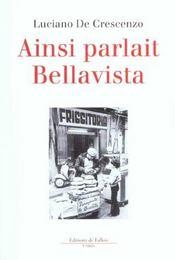 Ainsi parlait bellavista - Intérieur - Format classique