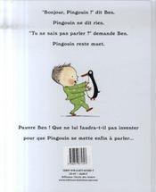 Pingouin - 4ème de couverture - Format classique
