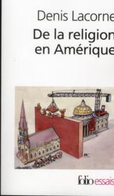 De la religion en amerique - Couverture - Format classique