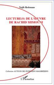 Lectures de l'oeuvre de Rachid Mimouni - Couverture - Format classique